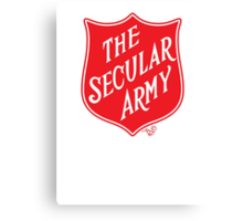 The Secular Army by Tai's Tees Canvas Print