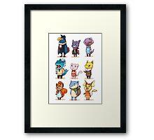 animal crossing crossover pokemon Framed Print