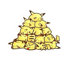many pikachus by pokemonmaster89