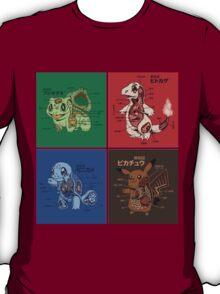 pokemon starters anatomy T-Shirt