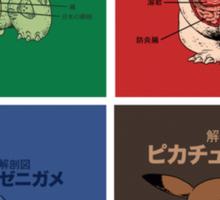 pokemon starters anatomy Sticker