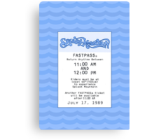 Splash Mountain Fastpass Canvas Print