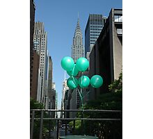 Green Balloons in New York Photographic Print