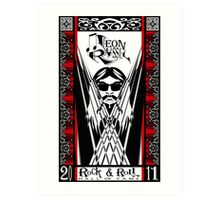 Leon Russell, Rock & Roll Hall of Fame, Commemorative Art by L. R. Emerson II Art Print
