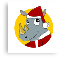 Christmas Rhinoceros  Canvas Print