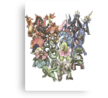 all starters pokemons cool design Canvas Print