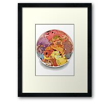 eeve's evolutions in a pokeball Framed Print