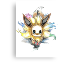 eevee with many tails evolutions Canvas Print