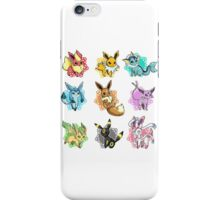 eeve's evolutions mosaic iPhone Case/Skin