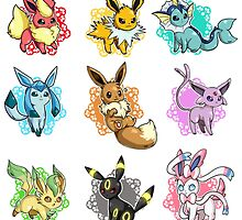 eeve's evolutions mosaic by pokemonlover89