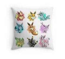eeve's evolutions mosaic Throw Pillow