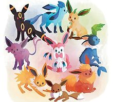 eevee cool evolutions by pokemonlover89