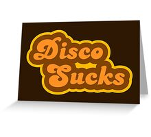Disco Sucks - Retro 70s - Logo Greeting Card