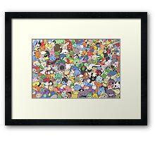 many pokemons funny poster Framed Print