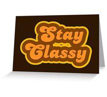 Stay Classy - Retro 70s - Logo Greeting Card