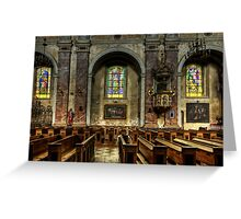 The church benches Greeting Card