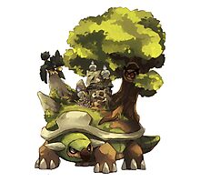 marowak ghost dep on torterra's back Photographic Print