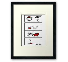 pokeball motivation, I choose you! Framed Print