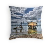 Silver Spray - West Mersea Throw Pillow