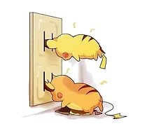pikachu and raichu in a plug lol by danocerebral69