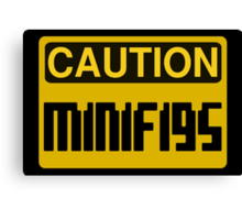Caution Minifigs Sign Canvas Print