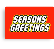 SEASONS GREETINGS Canvas Print