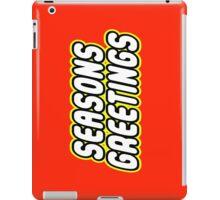 SEASONS GREETINGS iPad Case/Skin