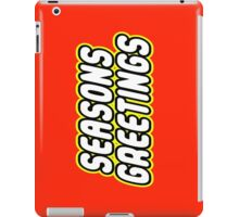SEASONS GREETINGS iPad Case/Skin