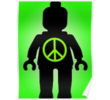 Black Minifig with Peace Symbol, Customize My Minifig Poster