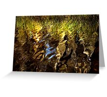 Ripples, reeds, reflections Greeting Card