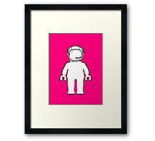 Banksy Style Astronaut Minifig, Customize My Minifig Framed Print