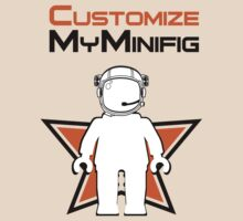 Banksy Style Astronaut Minifig and Customize My Minifig Logo by ChilleeW