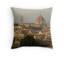 Hot Summer Afternoon in Florence, Italy Throw Pillow