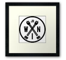 Wear In Newcastle Circle Framed Print