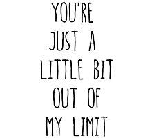 5sos Out of My Limit Lyrics Photographic Print