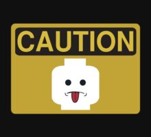 Caution Rude Minifig Head Sign by ChilleeW