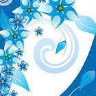 Tropical blue flowers by hulkingrach