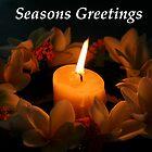 Christmas flame Seasons Greetings by Martin Pot