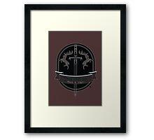 Baratheon Black Lager Framed Print