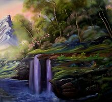 `      WATERFALL FANTASY by Randy Johnson