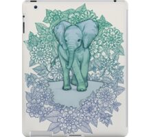 Emerald Elephant in the Lilac Evening iPad Case/Skin