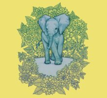 Emerald Elephant in the Lilac Evening Kids Clothes