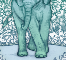 Emerald Elephant in the Lilac Evening Sticker