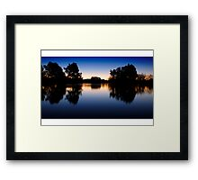 Lake Burley Griffin Sunset Framed Print