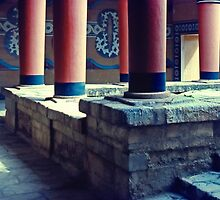Inside the Palace, Knossos, Crete, Greece 1960 by Priscilla Turner