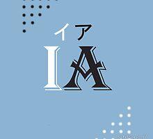 IA logo white design by Catdragon7