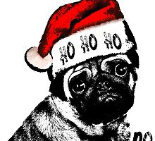 Christmas Pug Ho Ho No by emalakaite