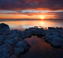 PotHoles Sunset by DawsonImages