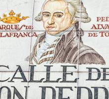 Don Pedro Street, Madrid Sticker