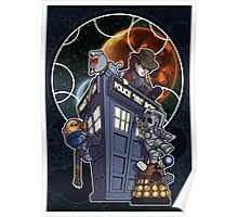 Cute 4th with Enemies + Gallifrey Poster